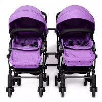 Manufacturers Supplying Detachable Luxury Linen Foldable Double Baby Carriage Baby Stroller Twins (SF-S8007 twins)