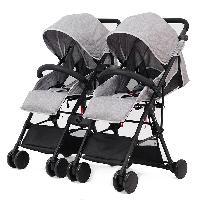 Aluminium détachable deux bébés utilisant une poussette pliante double landau landau pour jumeaux (SF-S806F1)