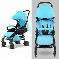 360 Degree Rotation PU Wheel Soft Wheel Luxury Baby Carriage Pocket Tricycle Baby Stroller (SF-S00A7 (steel))