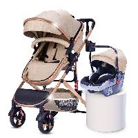 Multi-color Optional Linen/Lycia Canopy Fabric Aluminum Alloy Baby Stroller with Car Seat (SF-S0808C Pro)